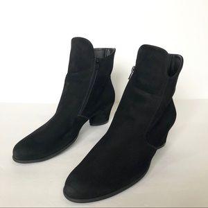 Arche LN Black Suede Muren Round Toe Ankle Boots